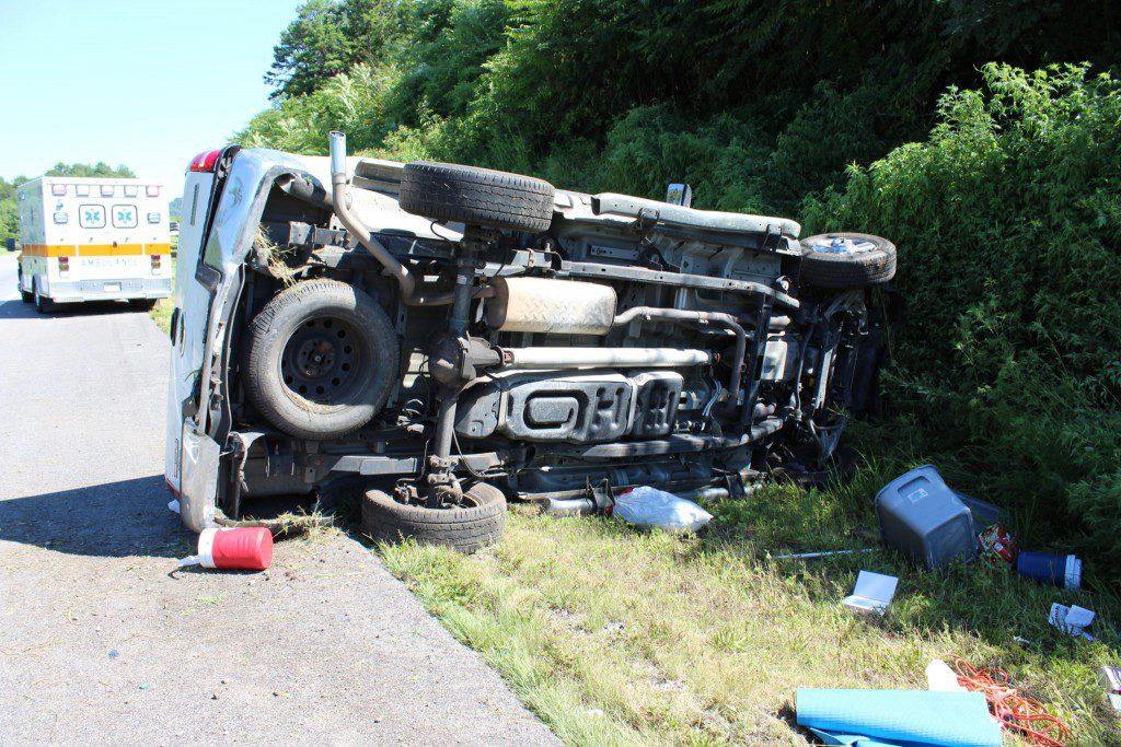 F150 Flipped on I40 - Smith County Insider