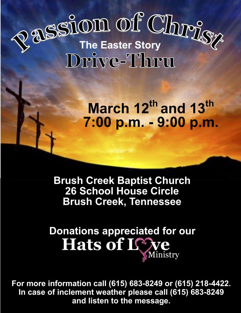 Passion of Christ Drive Thru - Smith County Insider
