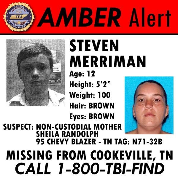 AMBER ALERT: 12 Year Old Cookeville Boy | Smith County Insider