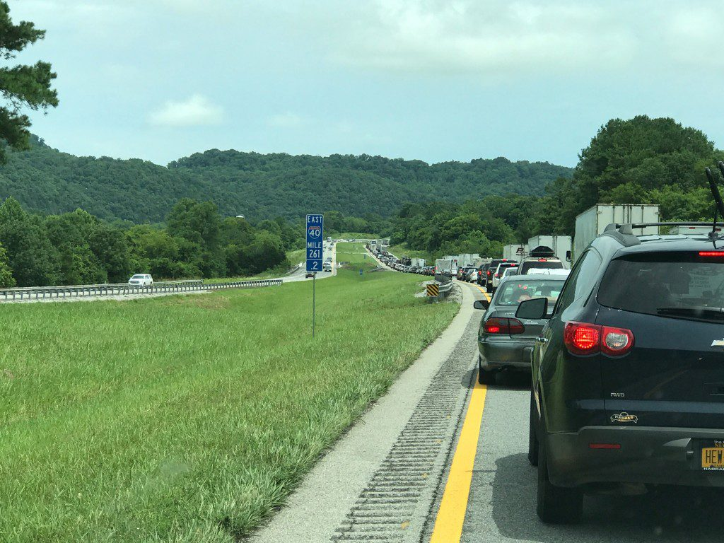 Multiple wrecks cause traffic congestion for hours on I-40