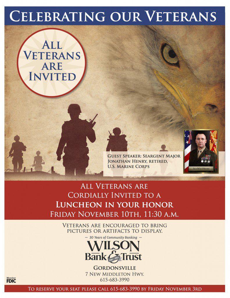 Veteranu0026#39;s Day Luncheon at Wilson Bank u0026 Trust - Smith County Insider