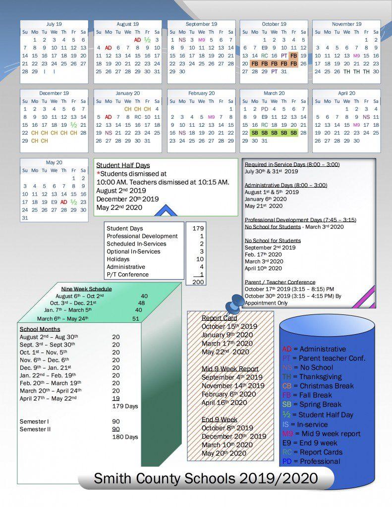 School Board Approves 2019/2020 School Calendar | Smith