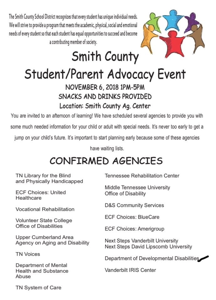 Smith County Student Parent Advocacy Event November 6