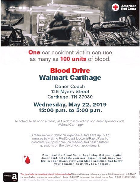 Blood Drive to be held at Walmart on May 22, 2019 | Smith County Insider