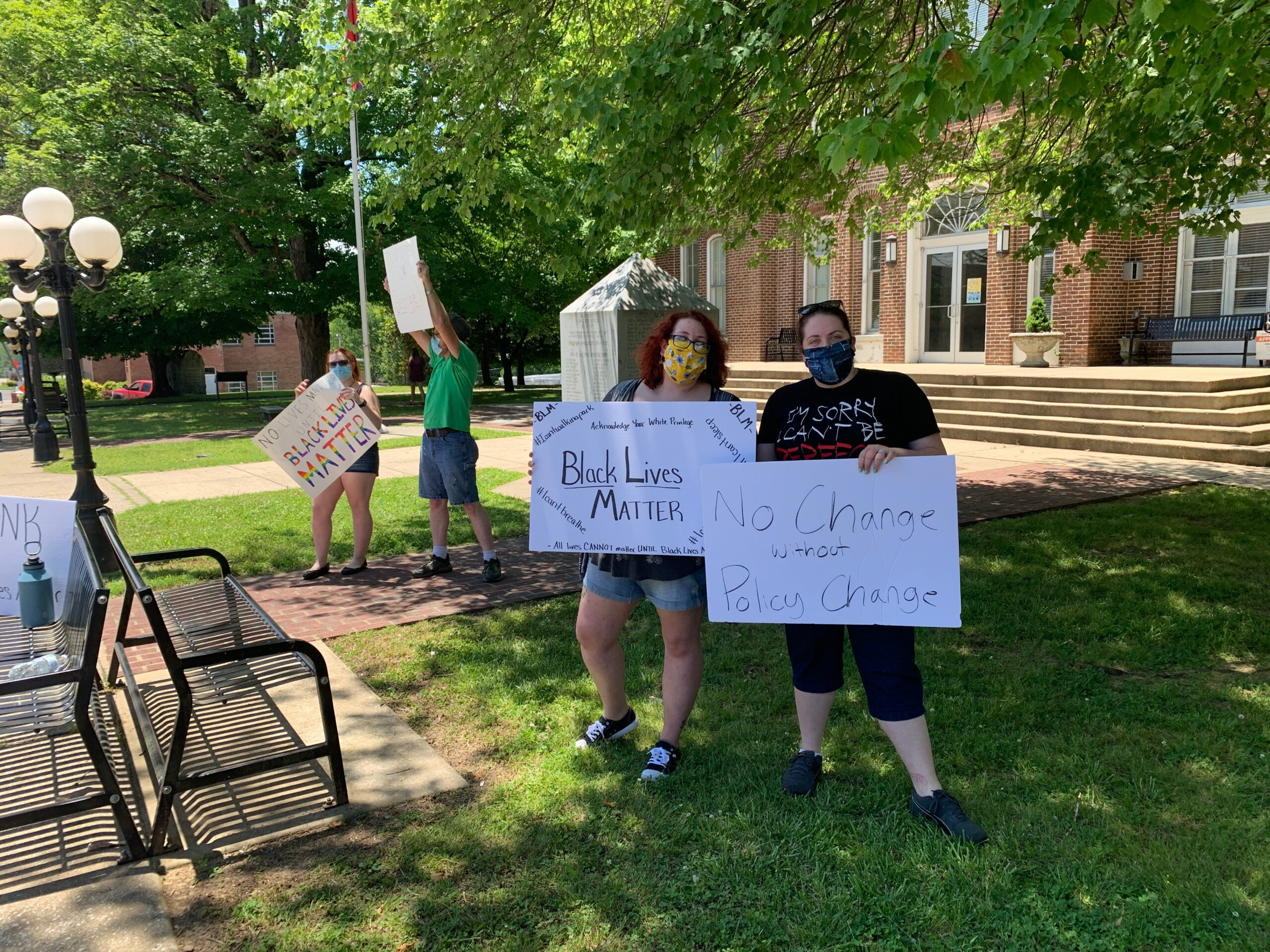 Peaceful Black Lives Matter Protest Held On The Historic Smith