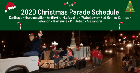 Mcminnville Tn Christmas Parade 2021 Schedule Of 2020 Christmas Parades In Smith County And Surrounding Areas Smith County Insider